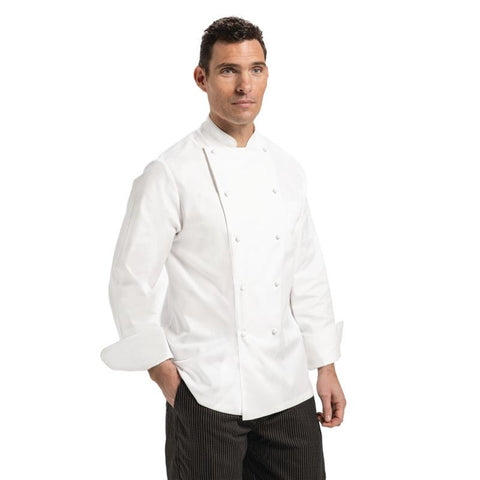 Chef Works Madrid Unisex Chef Jacket White 34