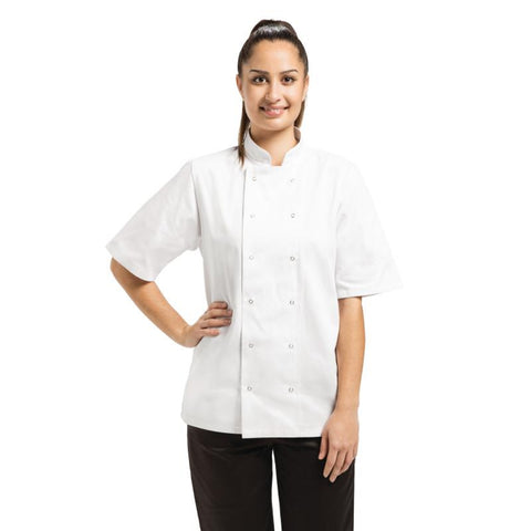 Whites Vegas Unisex Chef Jacket Short Sleeve White - XS