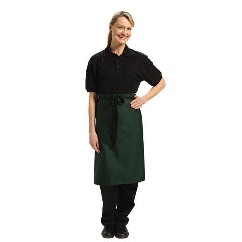 Chef Works Regular Bistro Apron Green