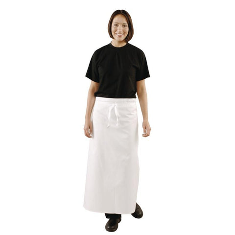 Whites Unisex Waist Apron With Brass Eyelets Extra Length