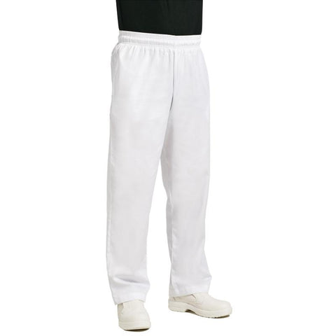 Chef Works Unisex Easyfit Chefs Trousers White M
