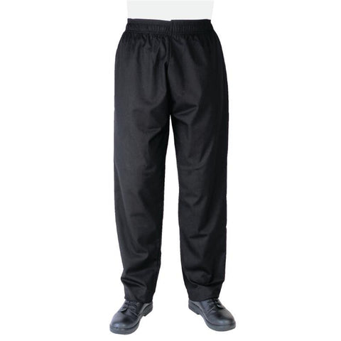 Whites Vegas Chef Trousers Polycotton Black - XXL