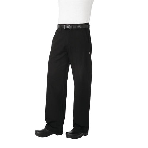 Chef Works Unisex Professional Series Chefs Trousers Black Herringbone XS