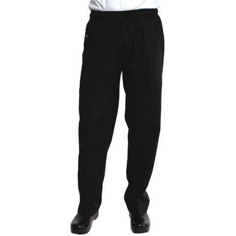 Chef Works Unisex Better Built Baggy Chefs Trousers Black S