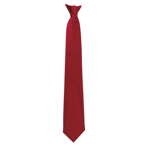 Clip On Tie Burgundy