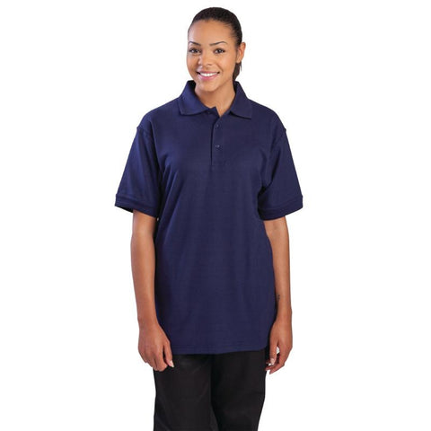 Unisex Polo Shirt Navy Blue XL