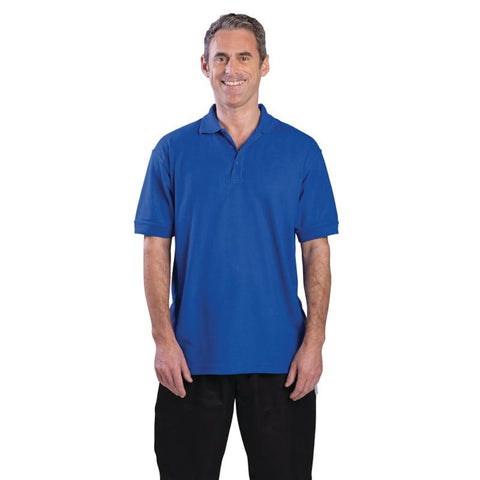 Unisex Polo Shirt Royal Blue M