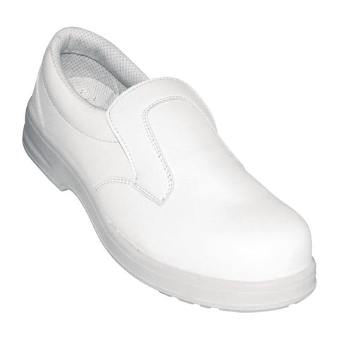 Lites Unisex Safety Slip On White Size 38