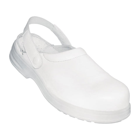 Lites Unisex Safety Clog White 40