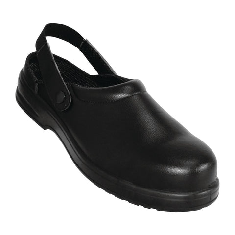 Lites Unisex Safety Clogs Black 43