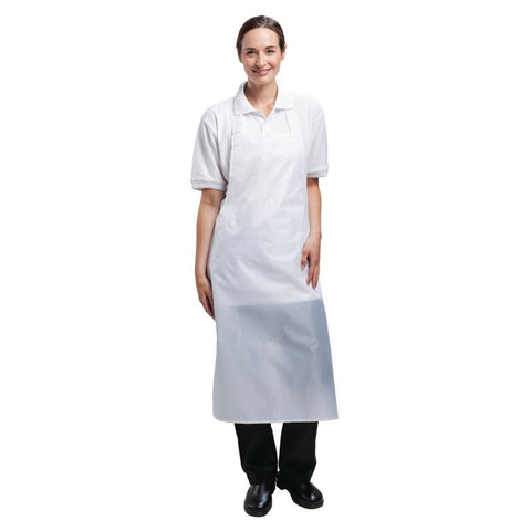 Whites Waterproof Unisex Bib Apron White
