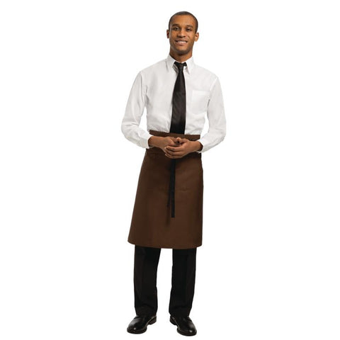 Chef Works Regular Bistro Apron Chocolate