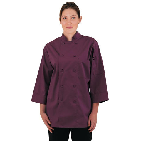 Chef Works Unisex Chefs Jacket Merlot M