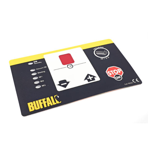 Control Panel Adhesive Label for Buffalo Vac Pack Machine