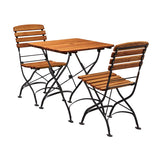 Arch Square Dining Set - Table and 2 Chairs