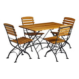Arch Rectangular Dining Set - Table and 4 Chairs