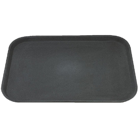 Kristallon Polypropylene Rectangular Non-Slip Tray Black 457mm