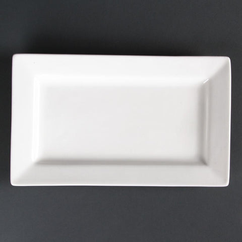 Lumina Wide Rim Rectangular Plates 257x 155mm