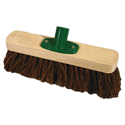 Jantex Wooden Broom Head Stiff Bassine 12in