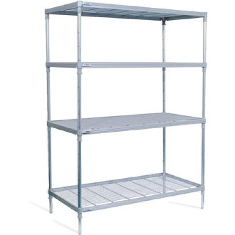 Craven 4 Tier Nylon Coated Wire Shelving With Castors 1825x1175x591mm