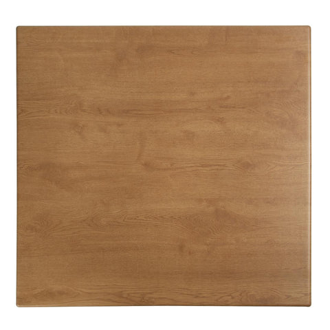 Werzalit Pre-drilled Square Table Top  Oak Effect 600mm