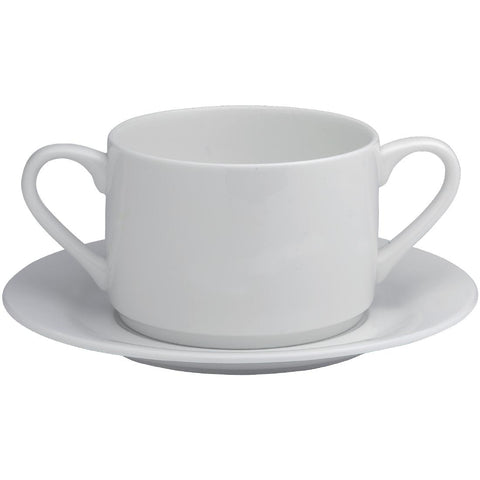 Elia Glacier Fine China Soup Cup Saucers 175mm