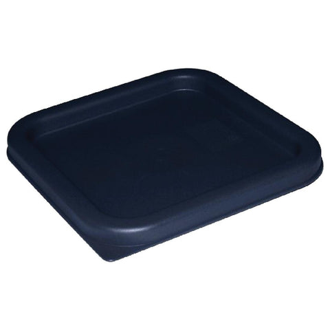 Vogue Polycarbonate Square Food Storage Container Lid Blue Medium