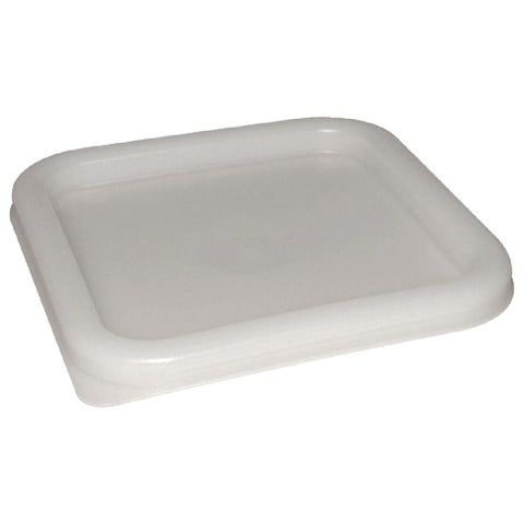 Vogue Polycarbonate Square Food Storage Container Lid White Large