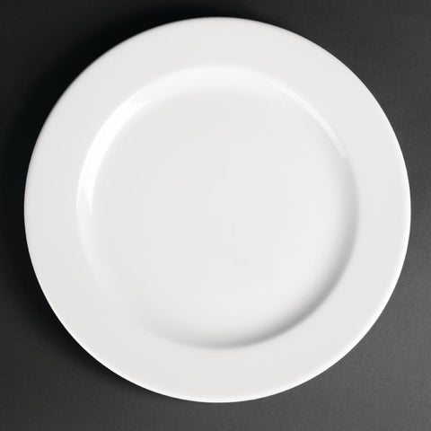 Royal Porcelain Classic White Wide Rim Plates 260mm