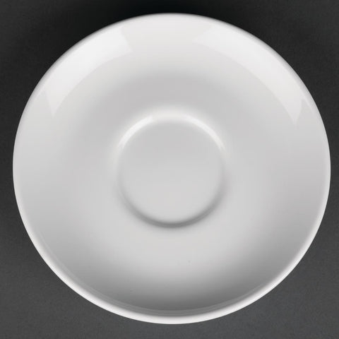 Royal Porcelain Classic White Cappuccino Saucers 150mm