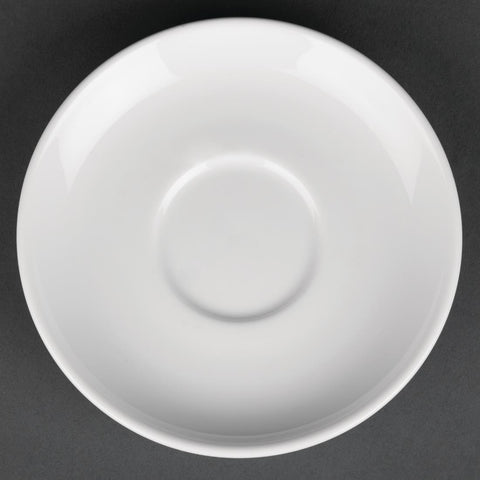 Royal Porcelain Classic White Espresso Cups Saucer 125mm