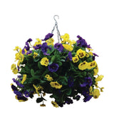 22 inch Purple and Yellow Pansy Ball