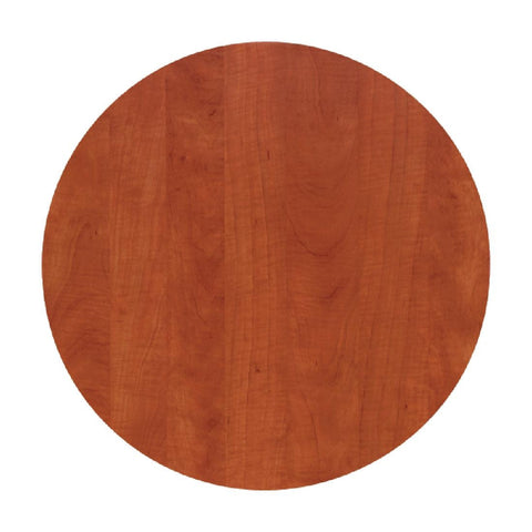 Werzalit Pre-drilled Round Table Top  Wild Pear Cognac 600mm