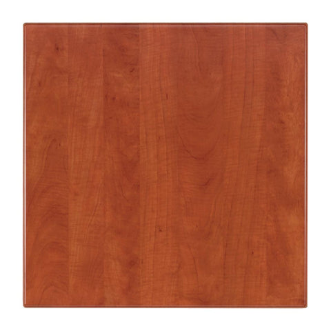Werzalit Pre-drilled Square Table Top  Wild Pear Cognac 600mm