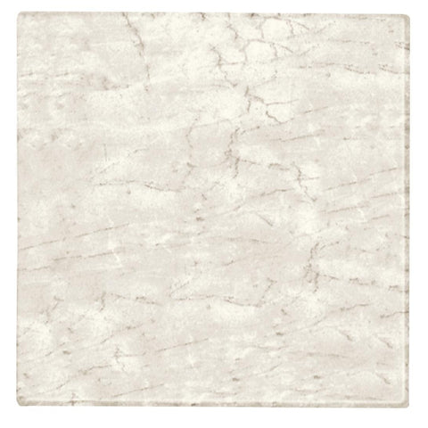 Werzalit Pre-drilled Square Table Top  Marble Bianco 600mm