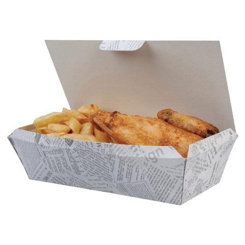 Disposable Food Tray Newsprint