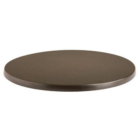 Werzalit Pre-drilled Round Table Top  Wenge 700mm