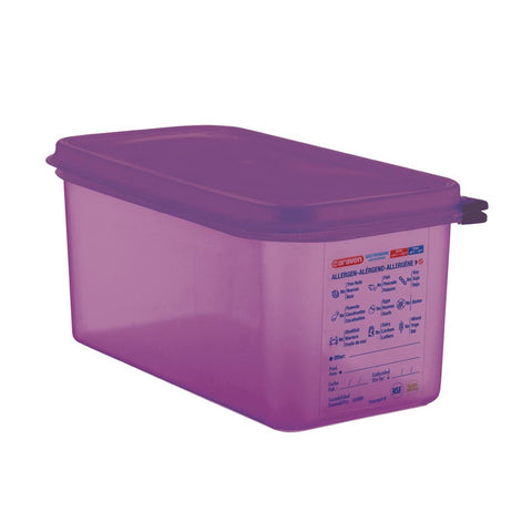 Araven Polypropylene 1/3 Gastronorm Food Container Purple 6Ltr