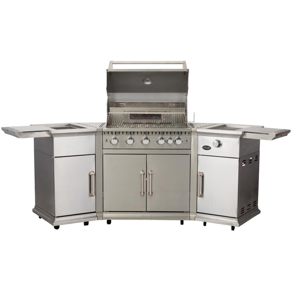 Lifestyle Bahama Island Gas BBQ c/w Rotisserie & Cover LFS680P
