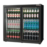 Autonumis Popular Double Sliding Door 3Ft Back Bar Cooler Black A215186