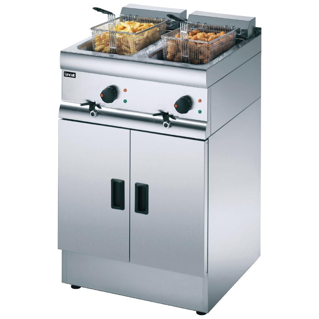 Lincat Silverlink 600 Free Standing Double Electric Fryer J12