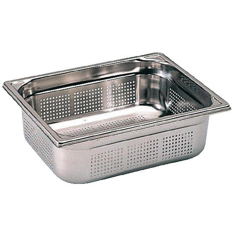 Bourgeat Stainless Steel Perforated 1/2 Gastronorm Pan 100mm