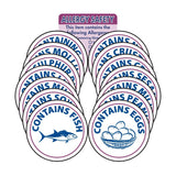2 Inch Vogue 15 Piece Allergen Label Set
