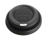 Fiesta Green CPLA 4oz Hot Cup Lids Black (Sleeve 50) Fiesta Green Compostable Espresso Cup Lids 113ml / 4oz (Pack of 50)