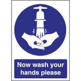 Vogue Now Wash Your Hands Sign