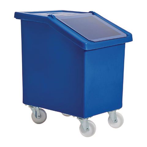 Mobile Ingredient Bin 90Ltr Blue