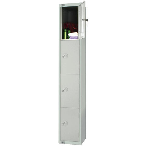 Elite Four Door Padlock Locker Grey