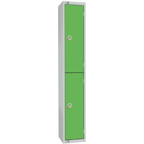 Elite Double Door Electronic Combination Locker Green