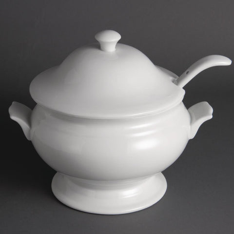 Olympia Soup Tureen and Ladle 2.5Ltr 88oz
