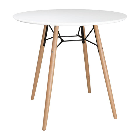 Bolero Arlo Table Round White 798mm